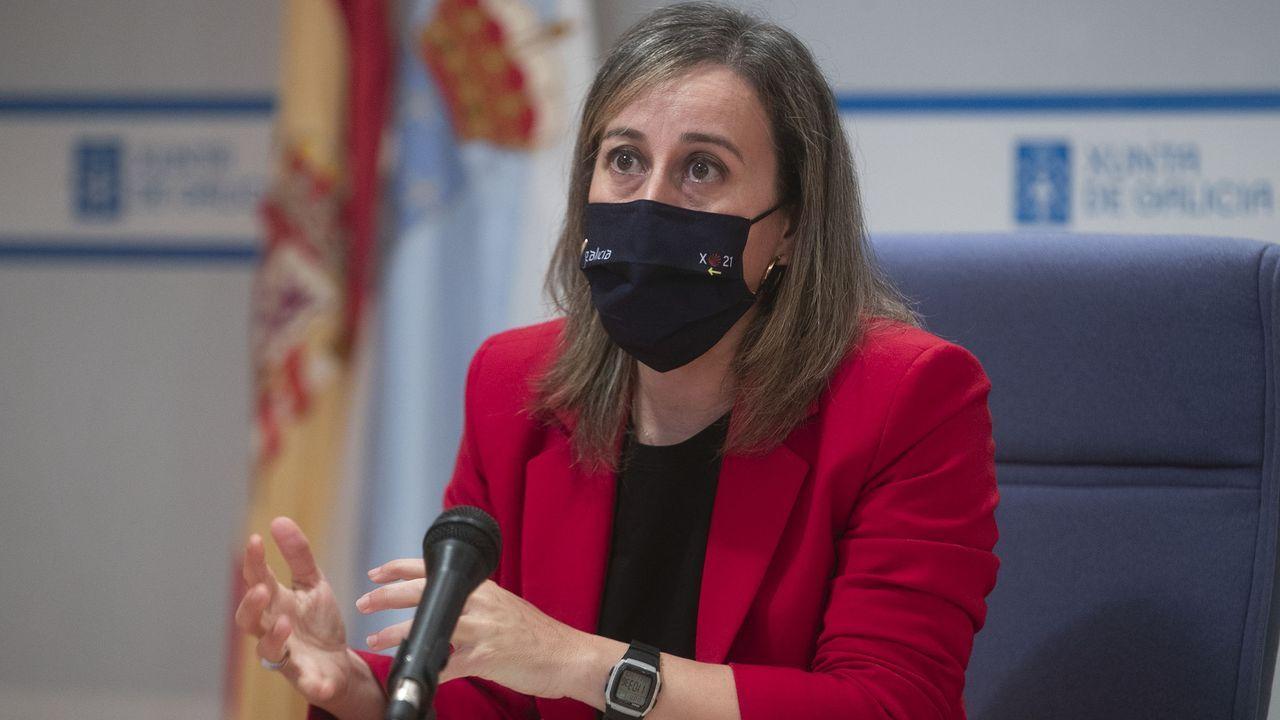 Ethel Vázquez, en la rueda de prensa donde presentó los proyectos que remitirá a Transportes