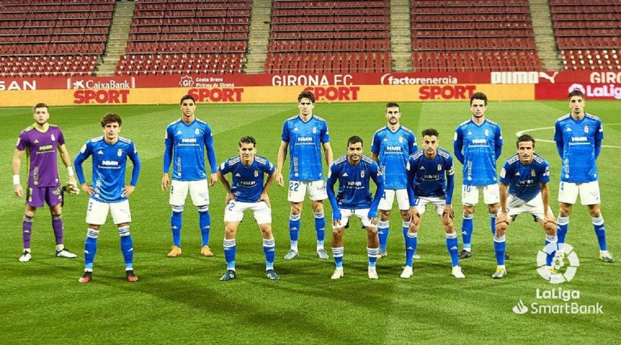 Alineación del Oviedo ante el Girona
