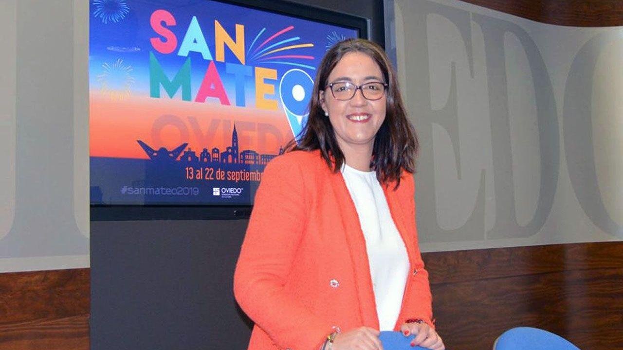 La concejala de Juventud y Autorización de Fiestas del Ayuntamiento de Oviedo, Covadonga Díaz