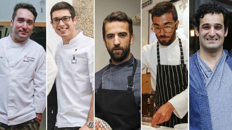 Dani López, Jorge Gago, Álvaro Fuentes, Adrián Felípez y Carlos Pérez