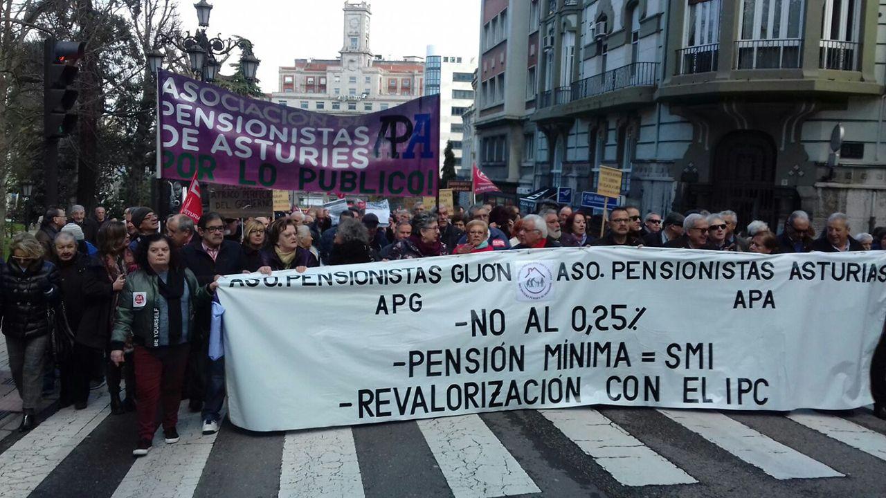 Manifestación de pensionistas en Oviedo