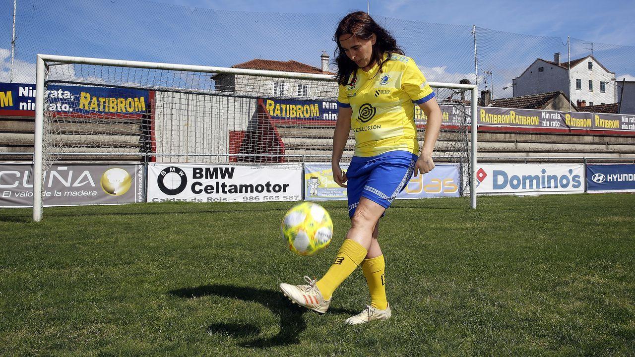 María Méndez en un encuentro ante el Rayo Vallecano