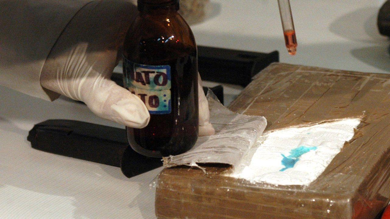 Cribado en Betanzos.Imagen de archivo de un paquete de cocaína