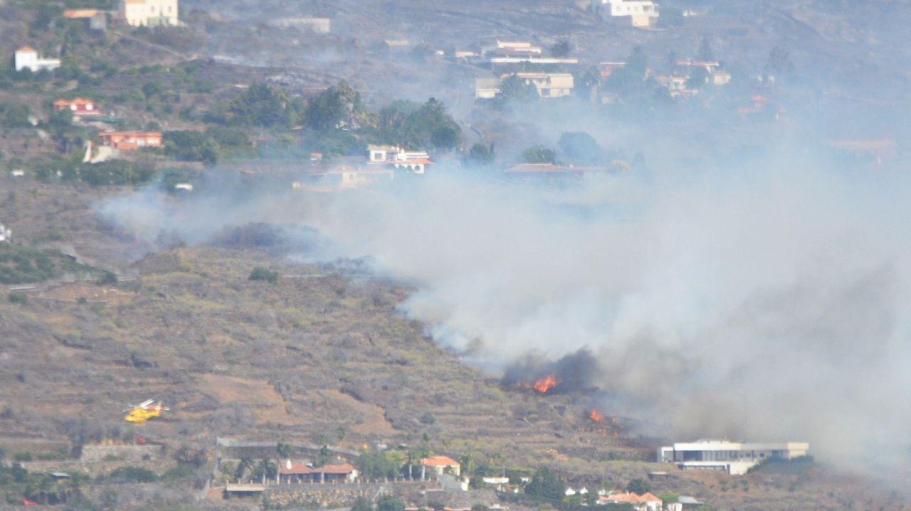 Incendio forestal en la isla de La Palma