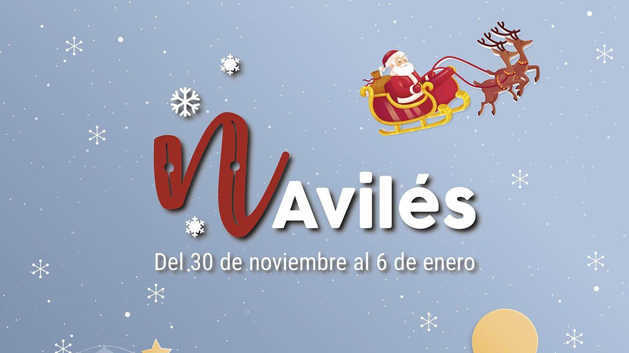 Cartel promocional de la agenda navideña avilesina