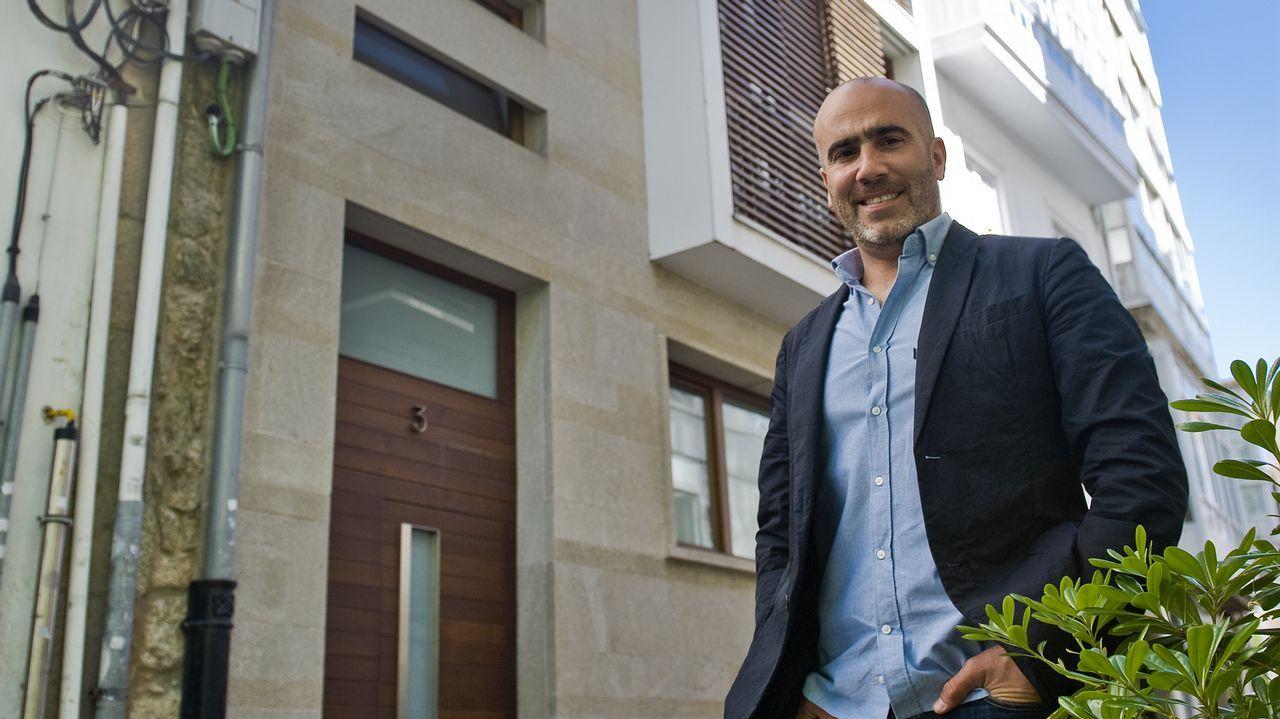Lucas Díaz arquitecto que hizo la rehabilitación de un edificio en calle Tinajas en la ciudad vieja