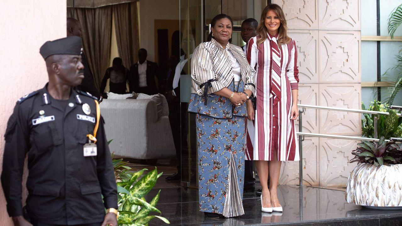 Los atuendos de Melania Trump durante su visita a África.La viñeta: Este dibujo creado por la gallega Bibiana Vega fue el detonante de toda la campaña. En él se pueden leer algunas de las incómodas situaciones a las que sus compañeras tienen que hacer frente a diario