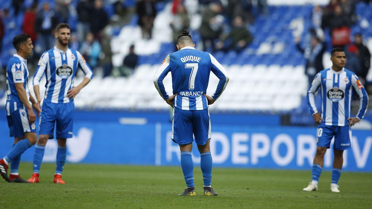 Sergio Egea y Fran Fernández antes del Almería-Oviedo