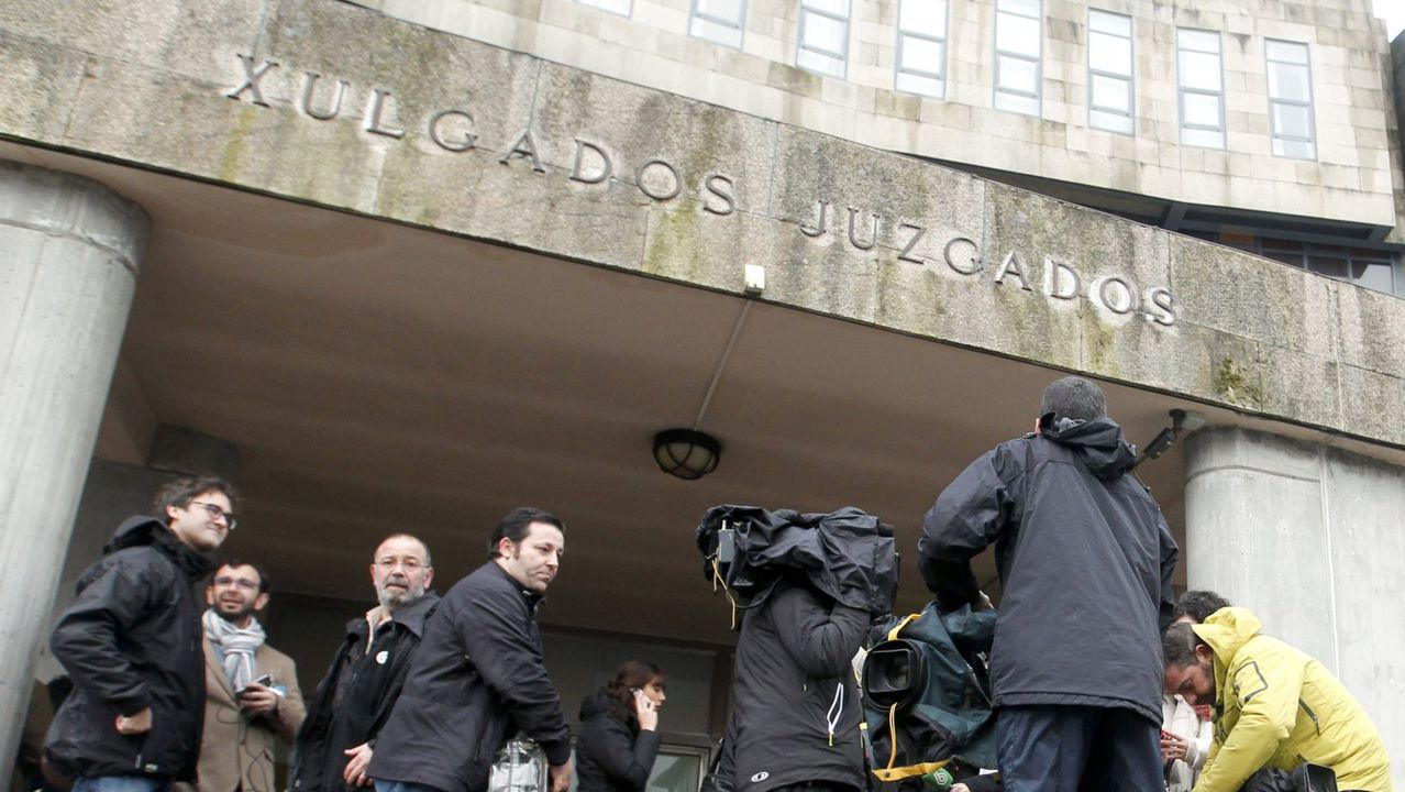En una imagen de archivo, la sede de los juzgados de Santiago, en Fontiñas