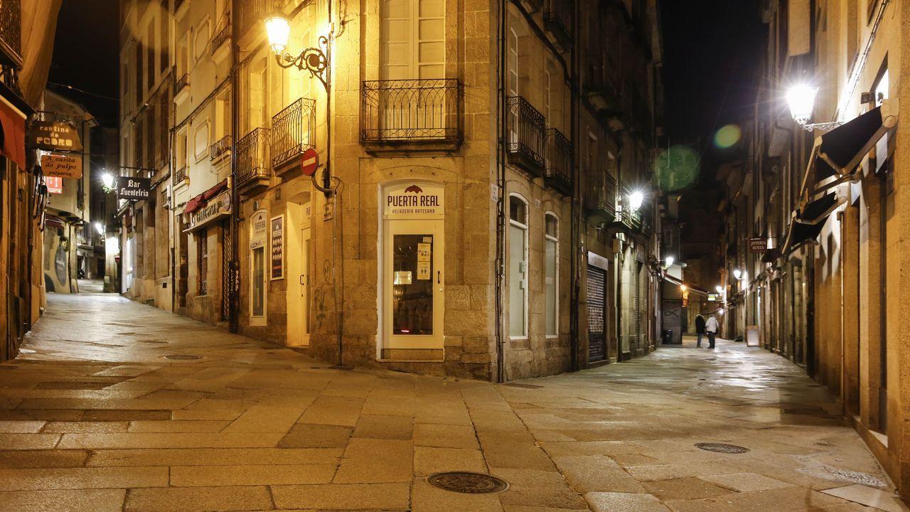 La hostelería, en la imagen la zona de Los Vinos desierta, es uno de los sectores más castigados