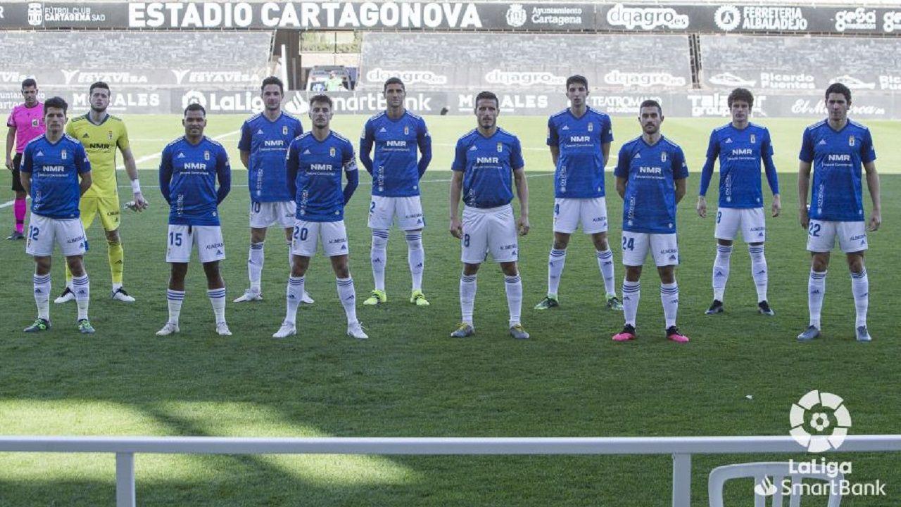 gol Femenias Cartagena Real Oviedo Cartagonova.Alineación del Oviedo ante el Cartagena