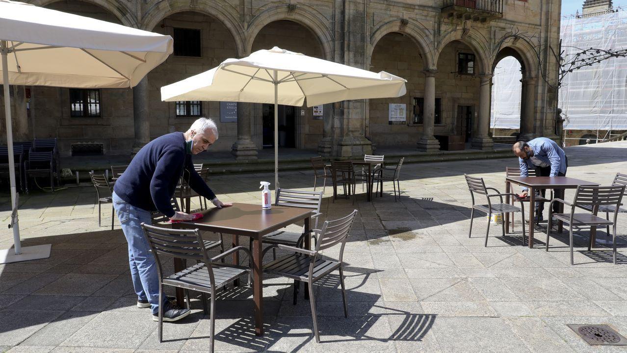 Este lunes solo reabrirán las terrazas de la hostelería que elabora comida para llevar