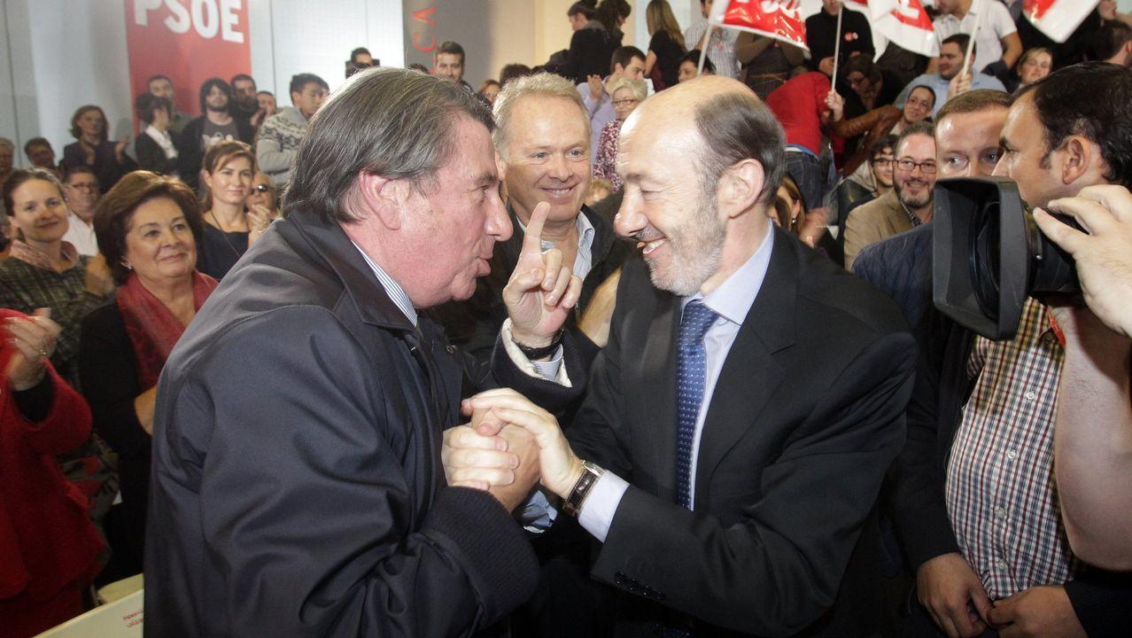 En un mitin en A Coruña en el 2011 junto a Francisco Vázquez