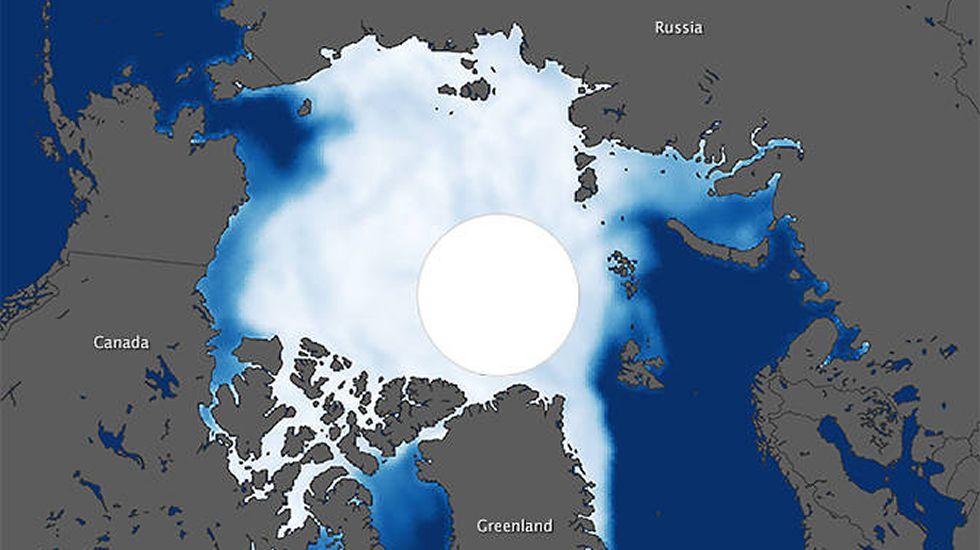 Kunlun.Pese al aumento de la Antártida el hielo ártico desaparece cada vez más deprisa.