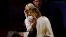 Melania Trump, con mascarilla, durante el primer debate presidencial en septiembre
