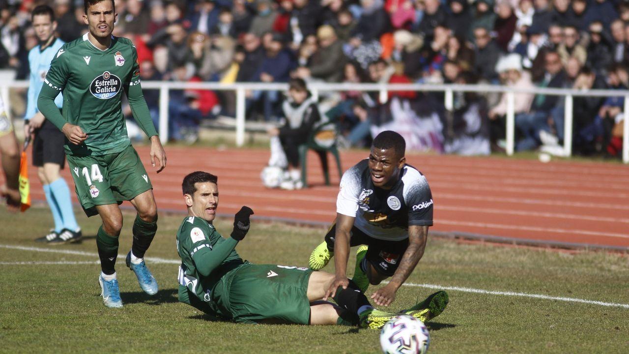 Imagen del partido de Copa de la pasada temporada entre el Deportivo y el Unionistas