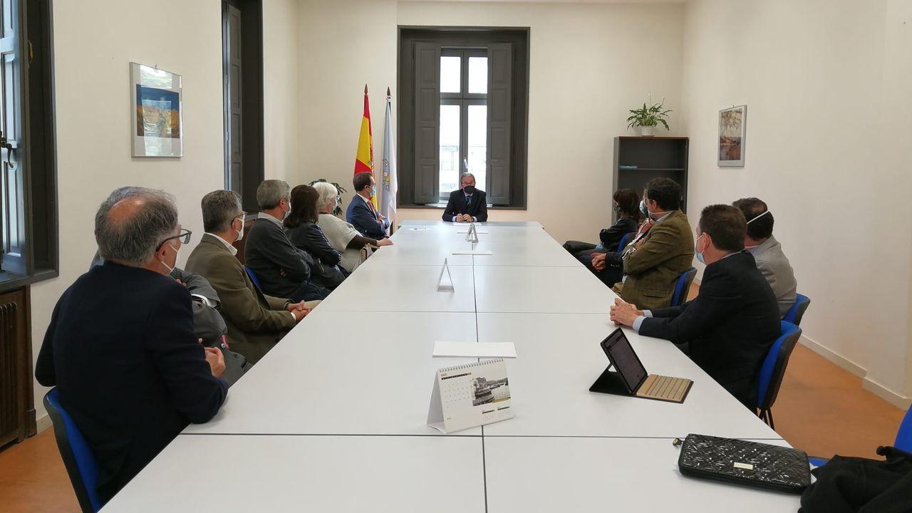 Así fue el regreso de Pültur a los escenarios.Reunión del presidente del Tribunal Superior de Xustiza de Galicia con los jueces de Pontevedra