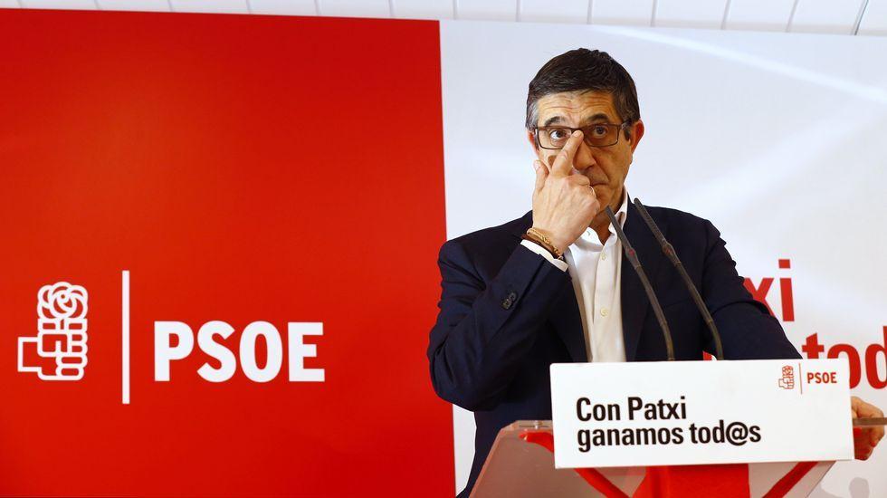 Patxi López sigue en la carrera