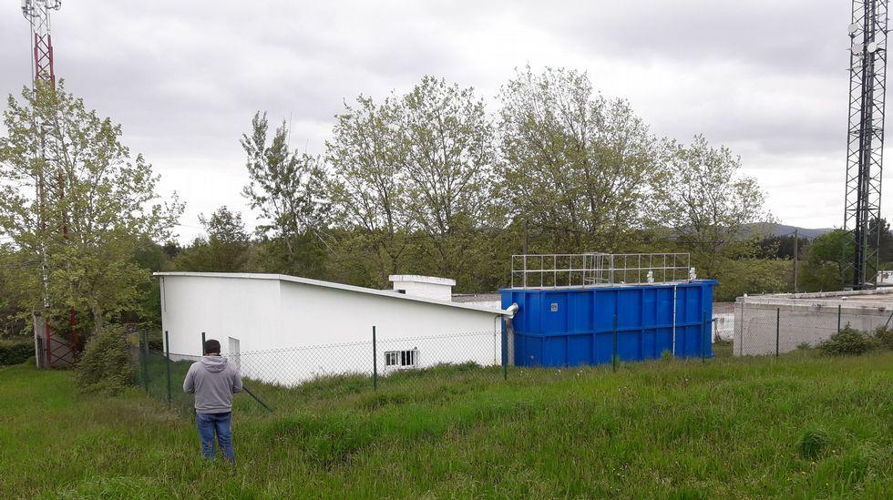 Los depósitos de agua de Bóveda, tras la reanudación del servicio interrumpido por un sabotaje