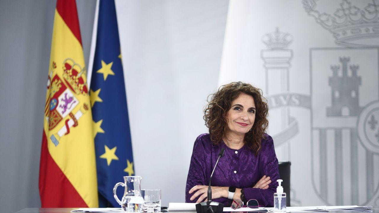 La portavoz del Gobierno, María Jesús Montero, en la rueda de prensa tras el Consejo de Ministros del pasado martes
