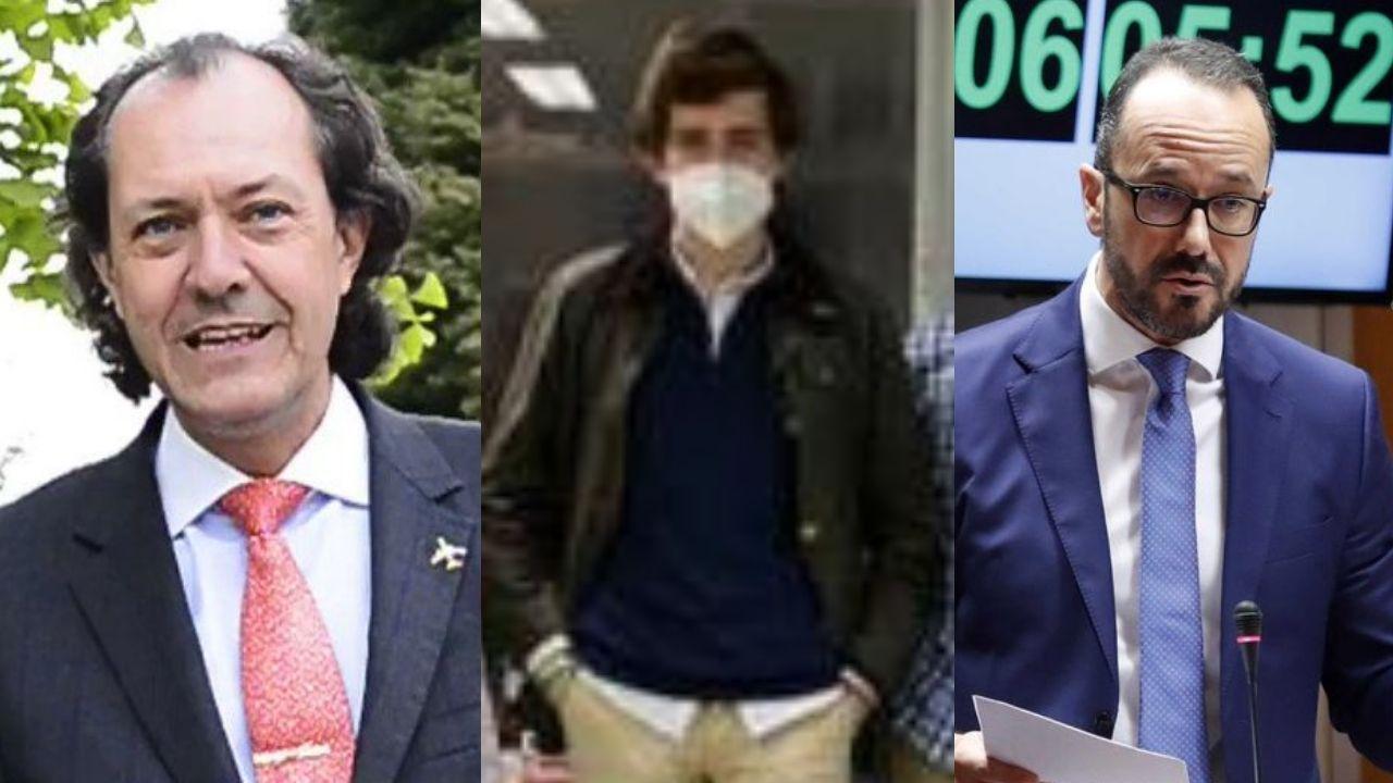 Por la izquierda, Alberto García Hevia, José Ramón García Menéndez e Ignacio Blanco