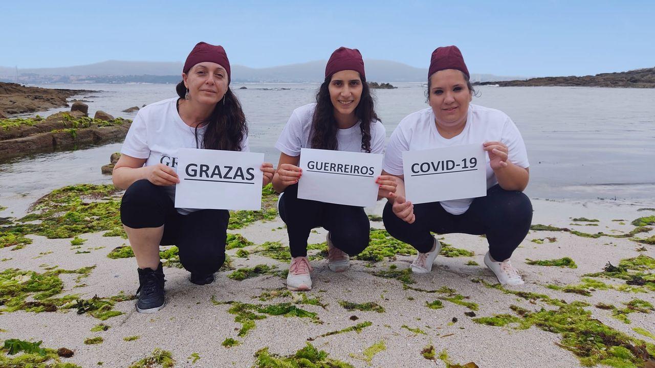 Las tres emprendedoras del proyecto Mimasa, alumnas del CIFP Carlos Oroza de Pontevedra, premiado en Eduemprende Idea 2020