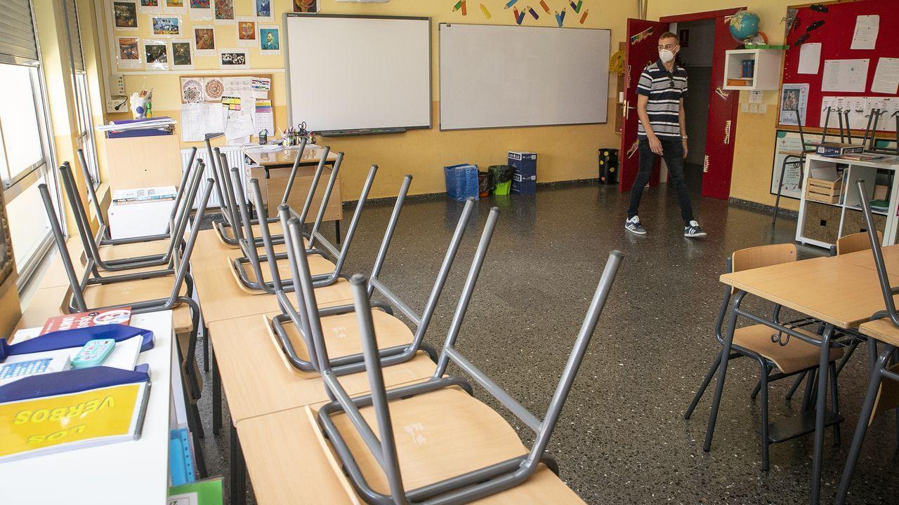 Preparación de una clase en el CEIP O Grupo de Ribeira