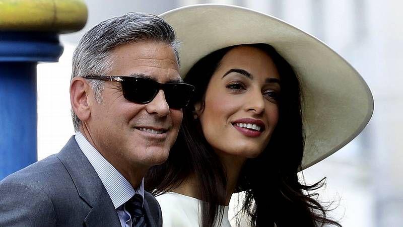 George Clooney y su mujer, casados oficialmente