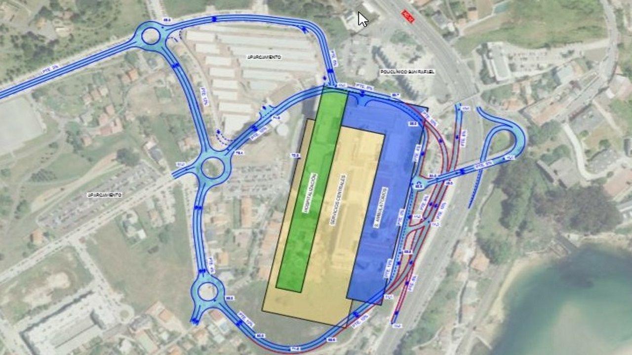 Imagen propuesta municipal para los viales del Novo Chuac