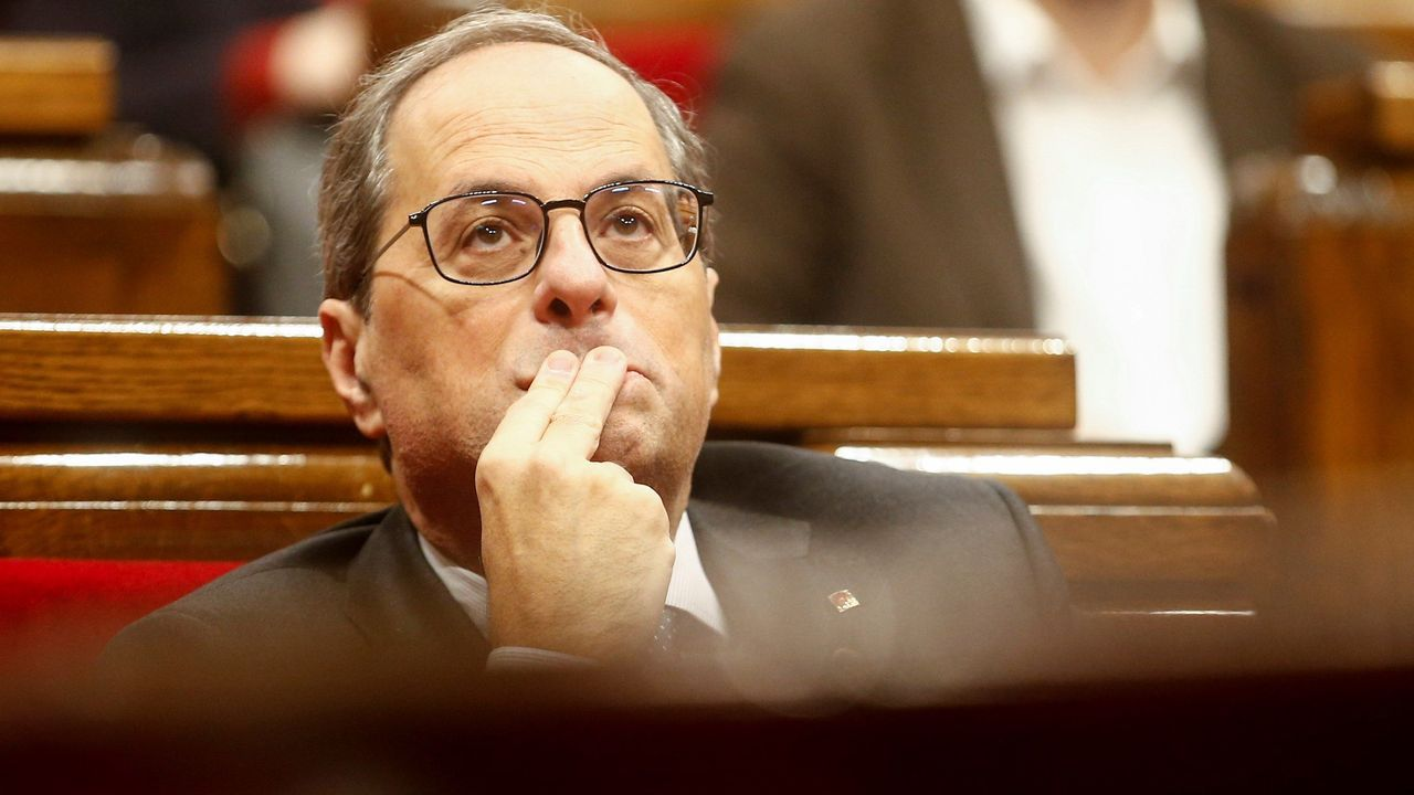 Torra comparece tras ser inhabilitado.El presidente de la Xunta, Alberto Núñez Feijoo