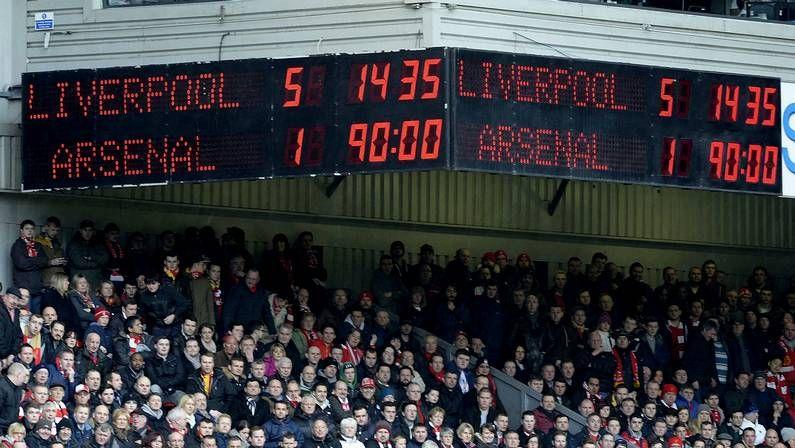 Aficionados en el estadio de Anfield