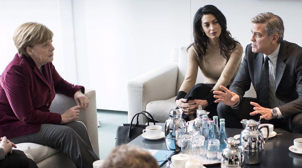 Tráiler de «The Music of Strangers».El actor estadoundiense George Clooney y su mujer Amal Clooney.