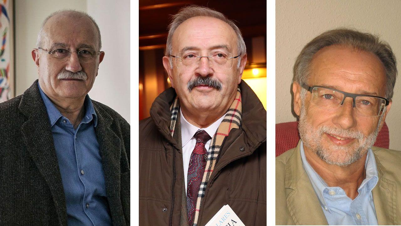 De izquierda a derecha: Antonio Izquierdo, Ramón Villares y José Manuel Sabucedo
