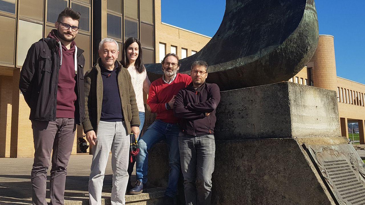 Pablo Pérez Núñez, Antonio Bahamonde, Beatriz Remeseiro, Óscar Luaces y Jorge Díez Peláez.