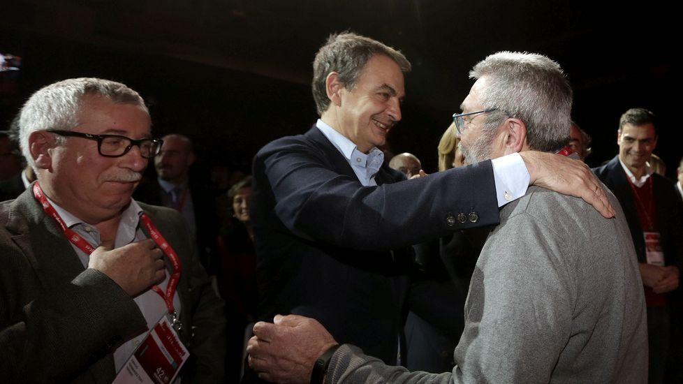 Méndez saluda a Zapatero en su última intervención como líder de UGT