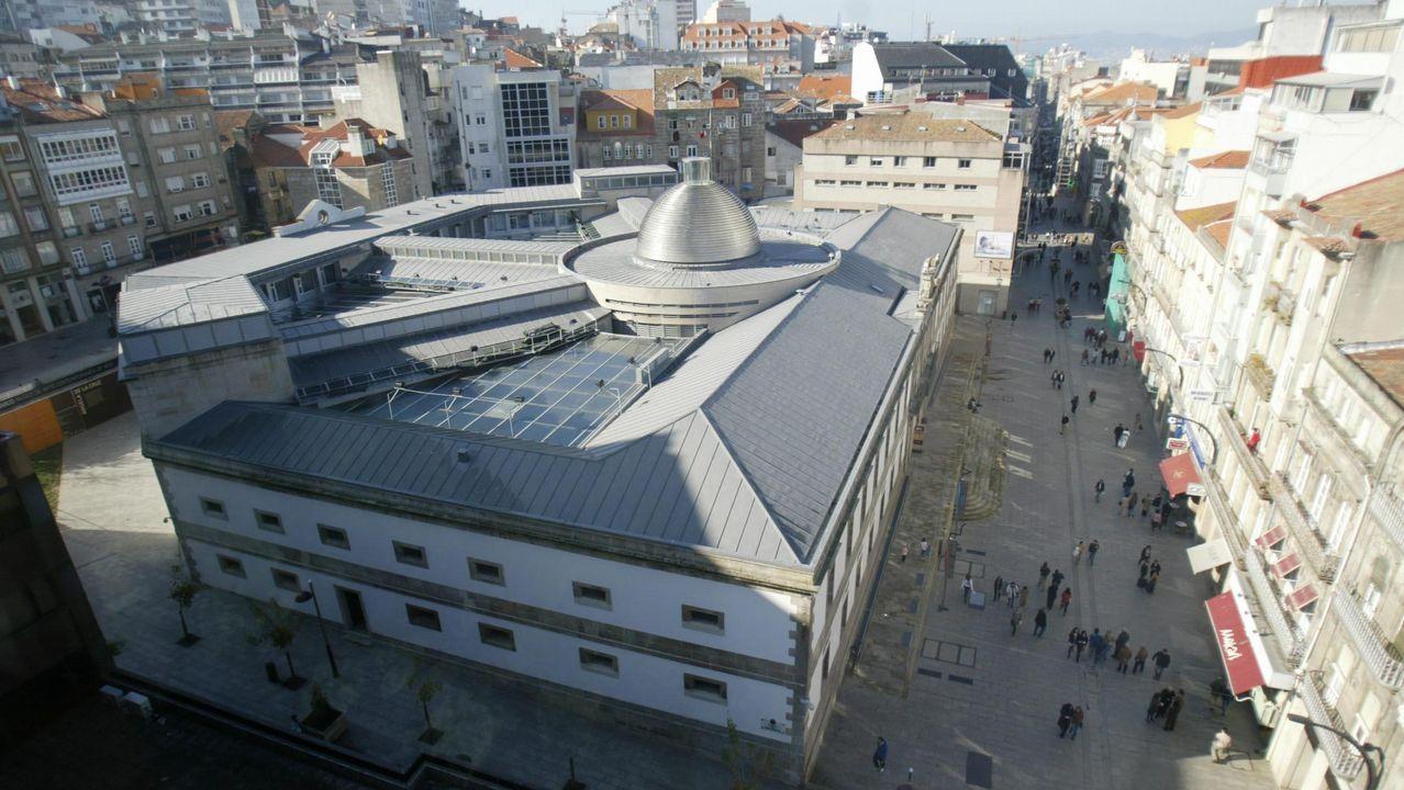 Vista aérea del Museo de Arte Contemporáneo de Vigo