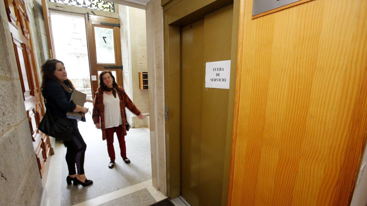Imagen de archivo de la sede cuando tuvieron el ascensor estropeado