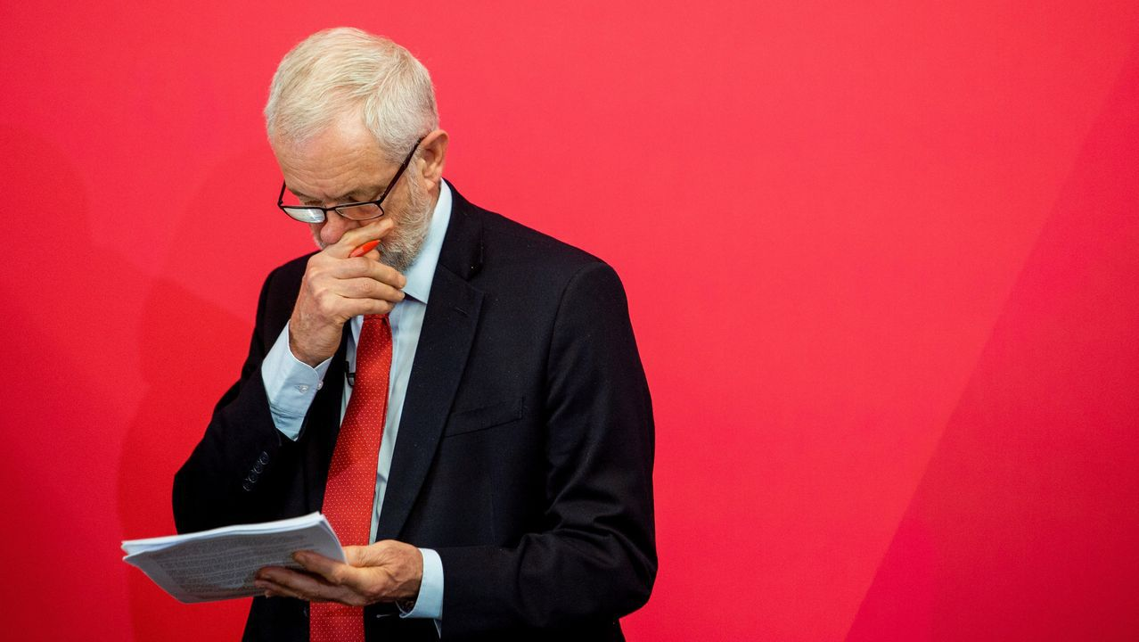 Corbyn, en el  acto de campaña, en la Universidad de Lancaster
