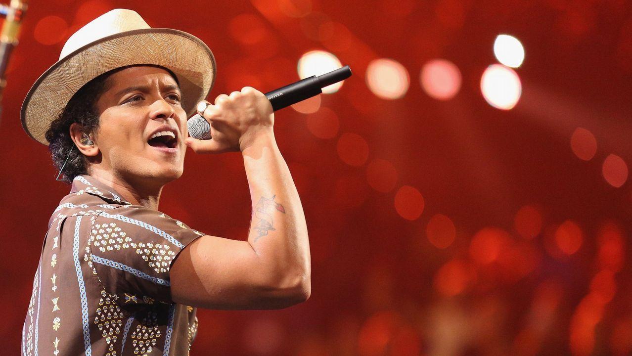 El cantante Bruno Mars está en la programación de festivales como Pinkpop (Holanda) y Rock in Rio Lisboa (Portugal)