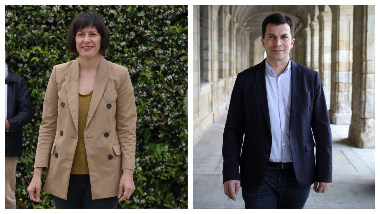 Ana Pontón y Gonzalo Caballero, candidatos por el BNG y el PSdeG respectivamente
