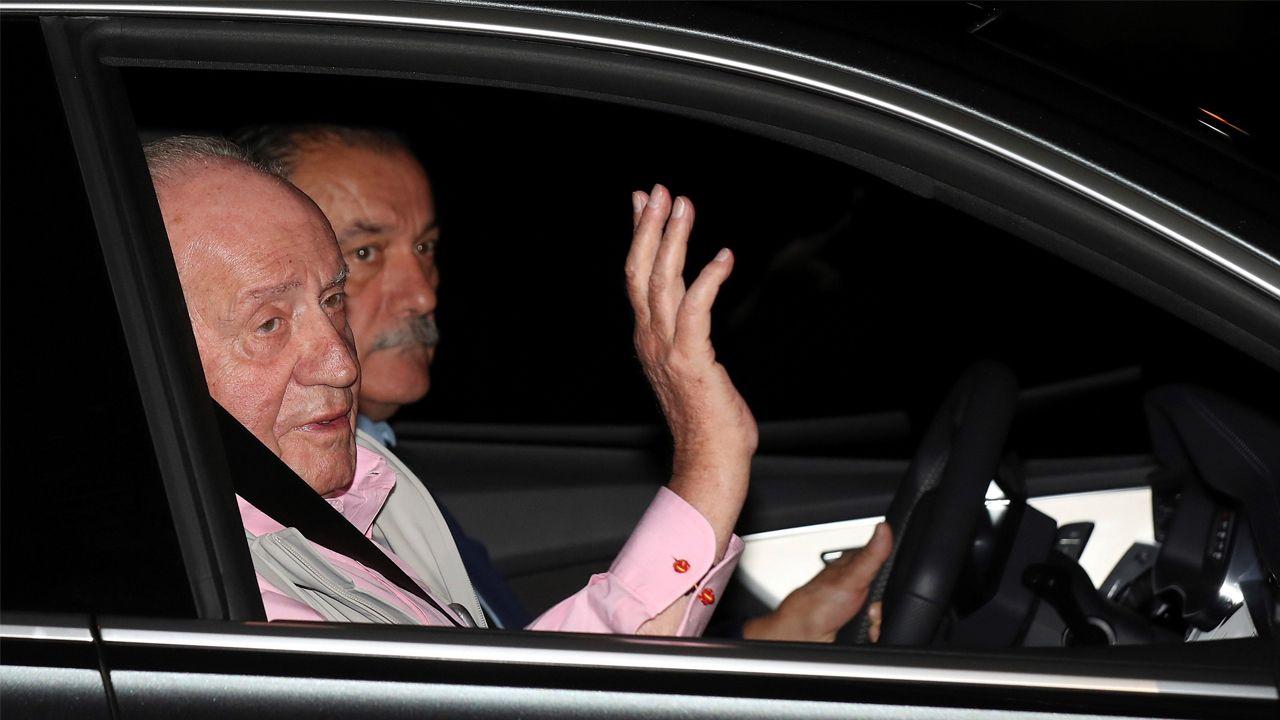 El rey emérito, a su llegada a la clínica madrileña este viernes