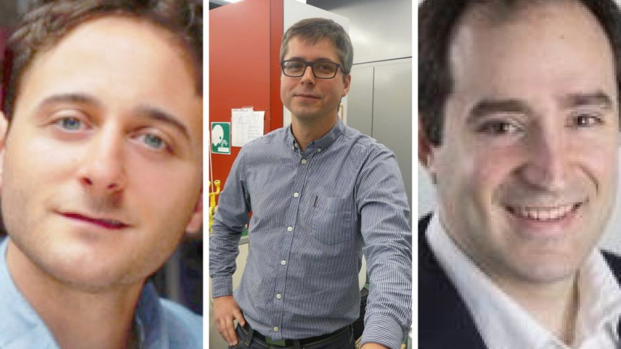 Gonzalo Prieto, Marcos García Suero y Martín Fañanás.