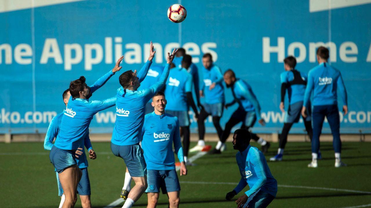 El Barcelona celebra la liga