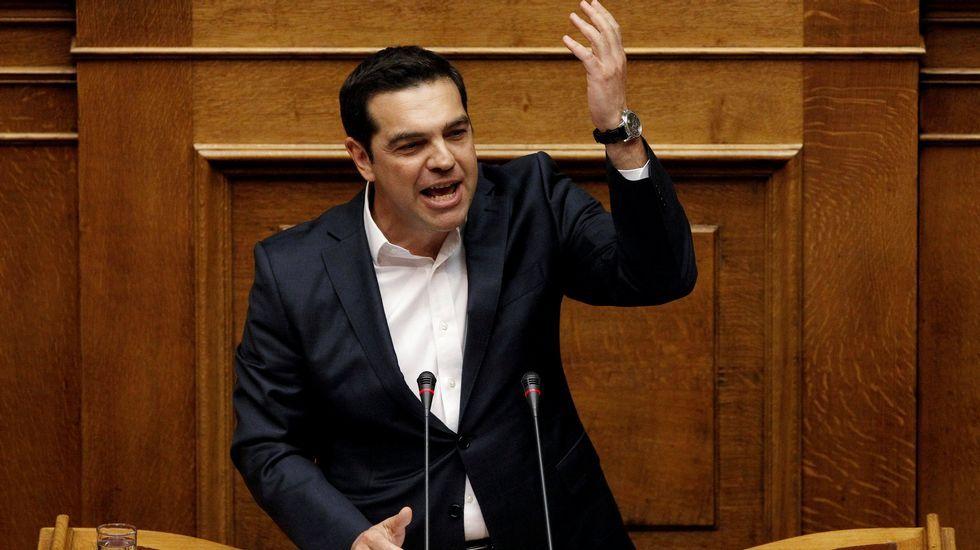 Tsipras, en el Parlamento