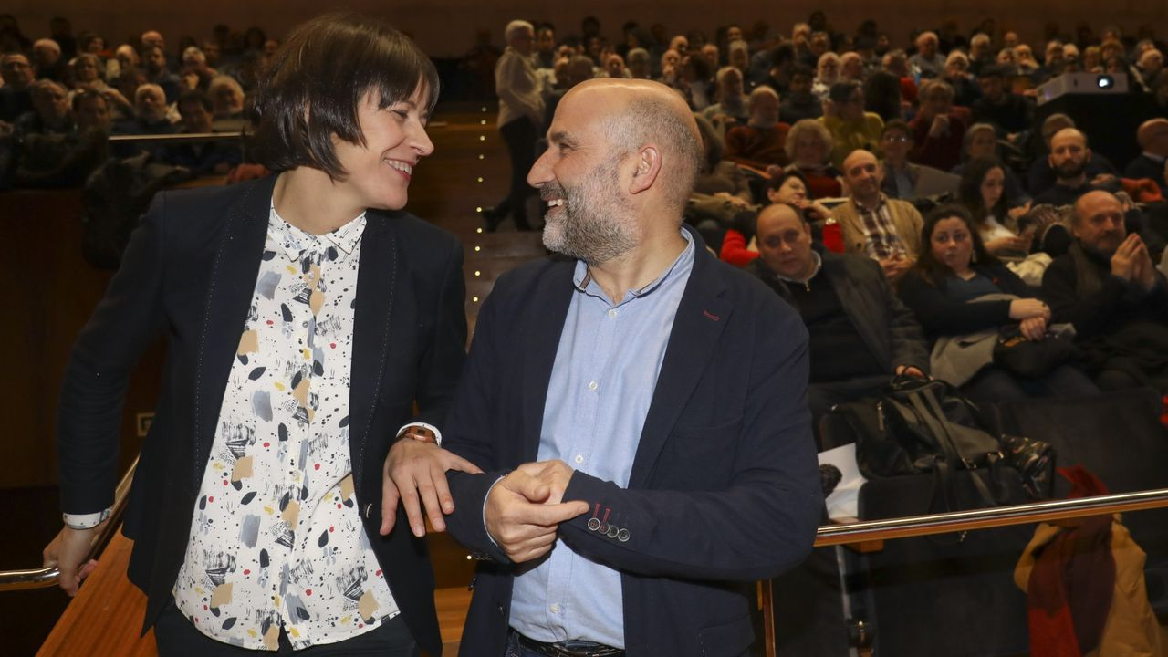 Ana Pontón y Néstor Rego, en febrero de este año