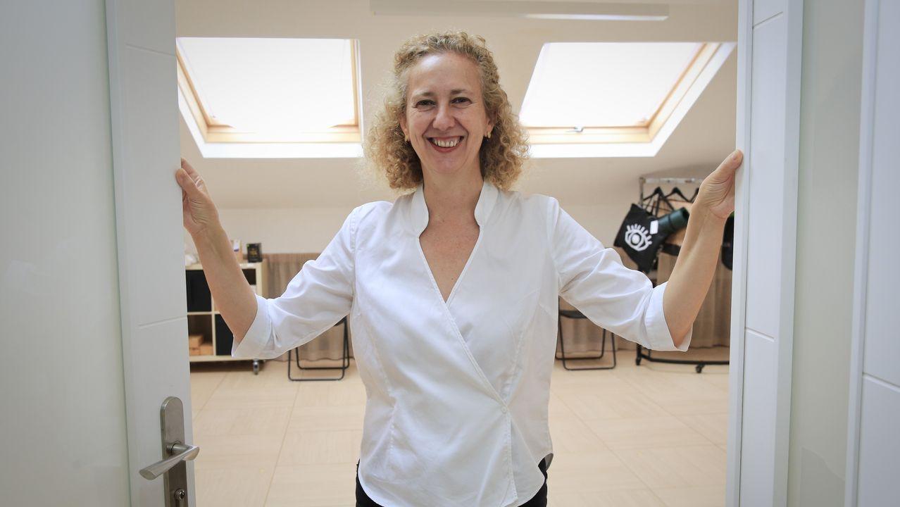 Aurora García-Boente recibe clientes cada día para sesiones de desarrollo personal.
