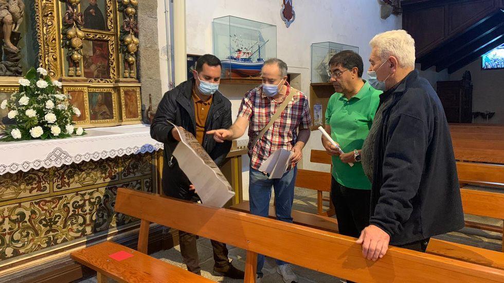 Visita de Noa Presas (BNG) al Concello de A Rúa
