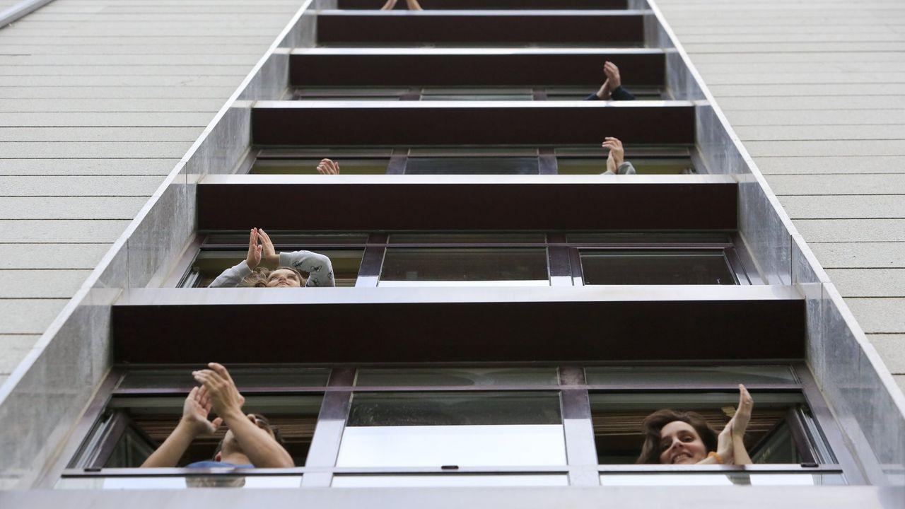 Los aplausos se repitieron durante las semanas de confinamiento en la capital lucense