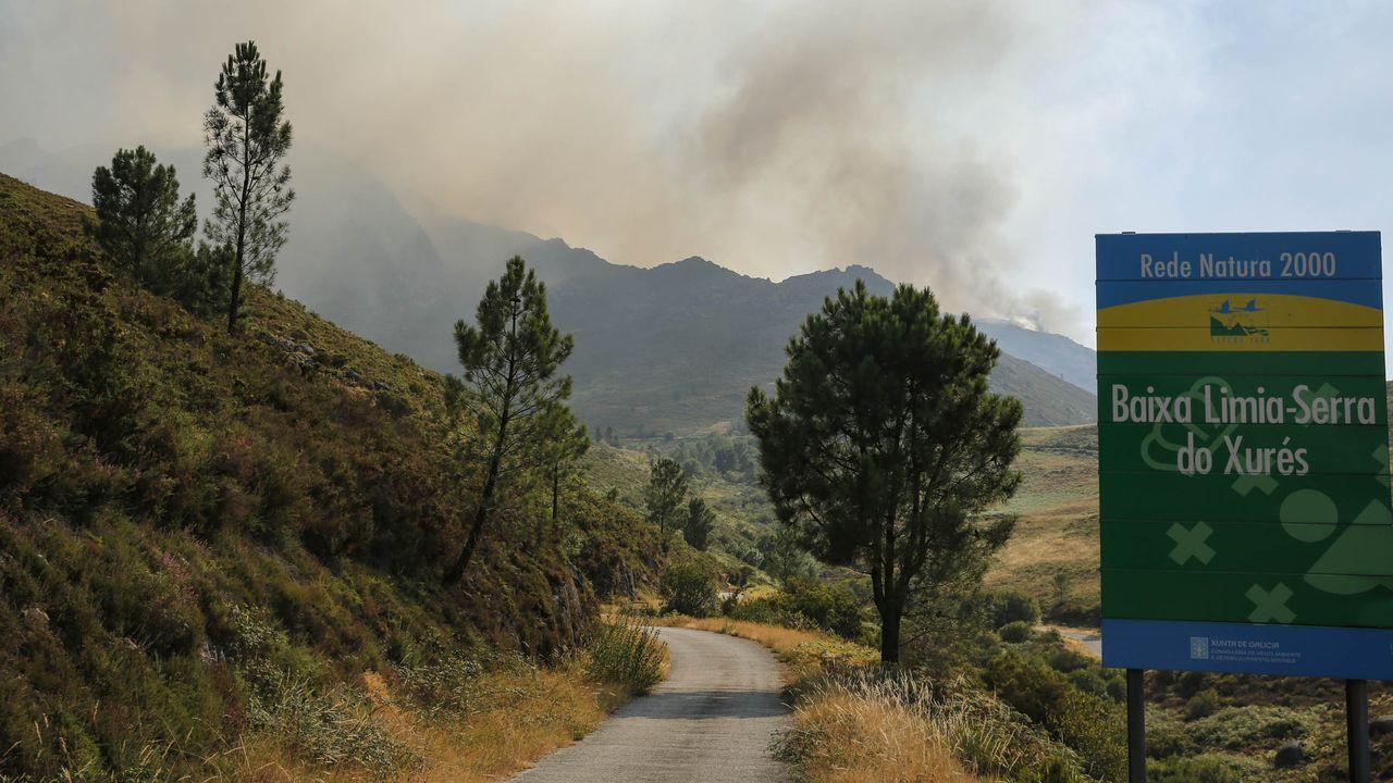 O Xurés, tras las llamas.La muestra M.AR.CO puede visitarse en Petín esta tarde-noche