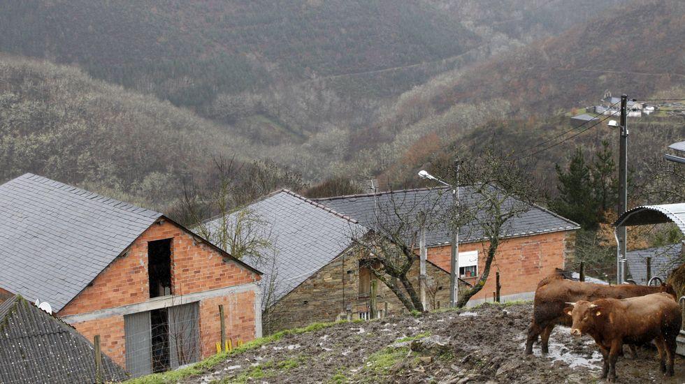 Feísmo en el rural de A Capela, viviendas rurales si recebar.
